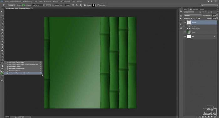 Обои Бамбук в Фотошоп-01