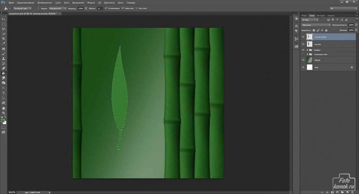Обои Бамбук в Фотошоп-03
