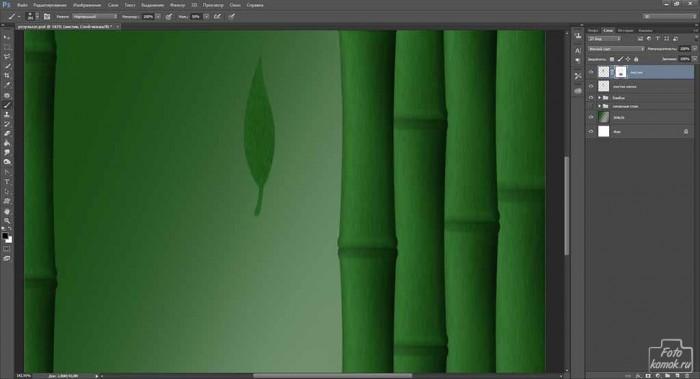 Обои Бамбук в Фотошоп-06