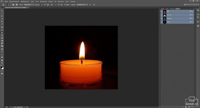 Анимация свечи -02