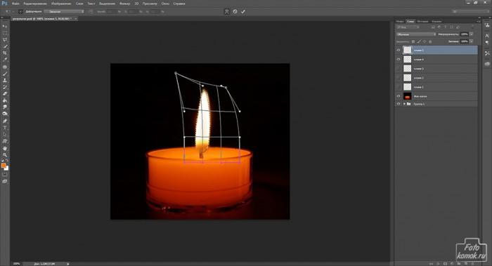Анимация свечи -08