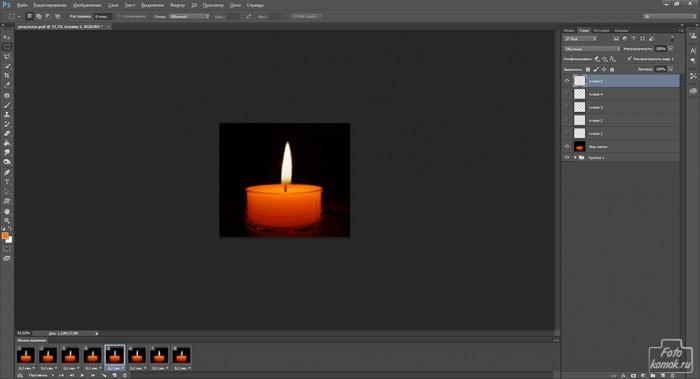 Анимация свечи -09