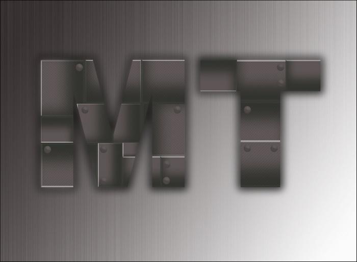 Металлические буквы в фотошоп