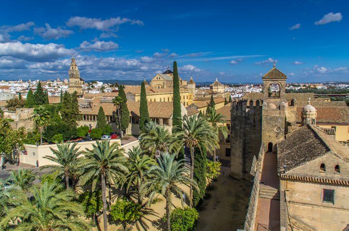Вид на город с башни Алькасара