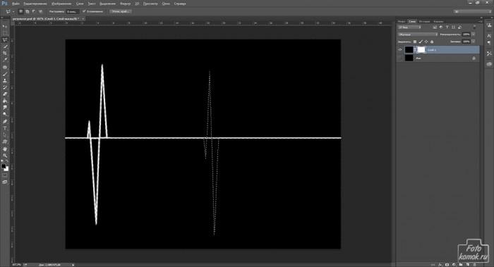 кардиограмма в Фотошоп-07