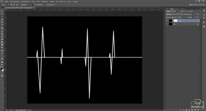 кардиограмма в Фотошоп-08