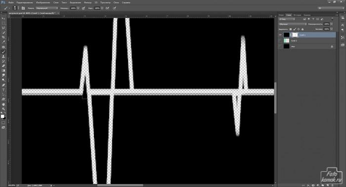 кардиограмма в Фотошоп-09