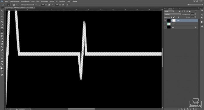 кардиограмма в Фотошоп-10