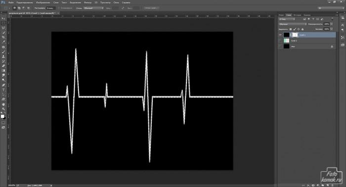 кардиограмма в Фотошоп-12