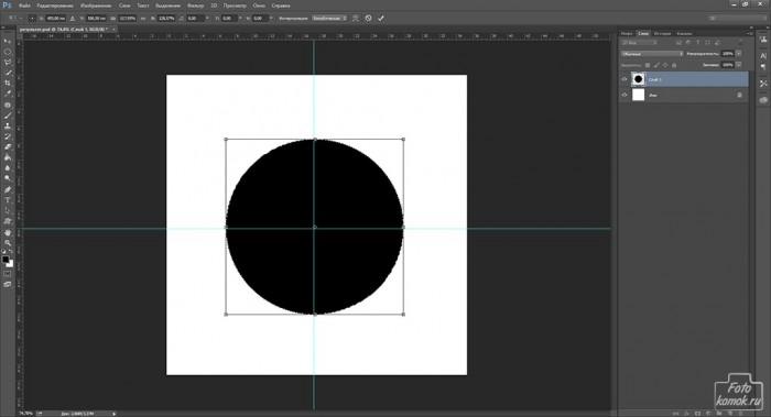 круг в Фотошоп-08