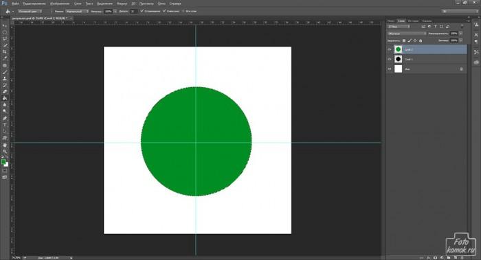круг в Фотошоп-09