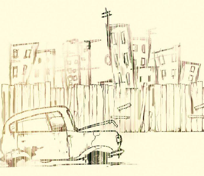 Штрихованный рисунок в Фотошоп