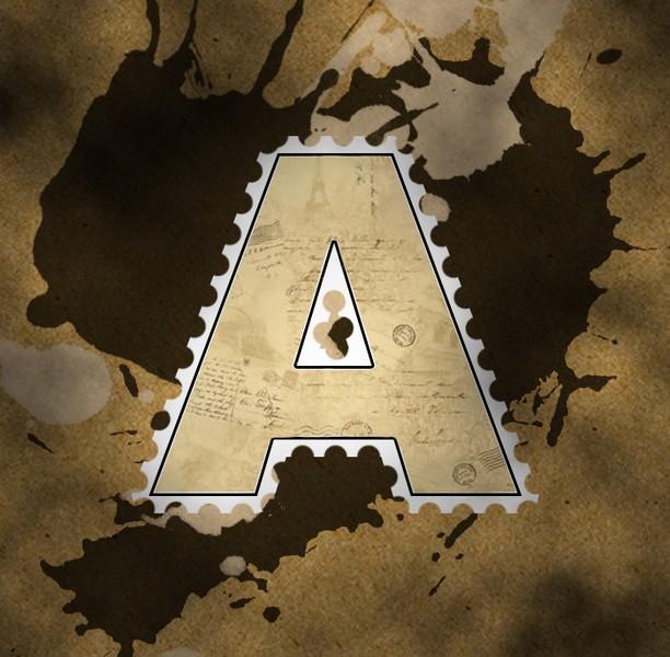 Кайма вокруг буквы