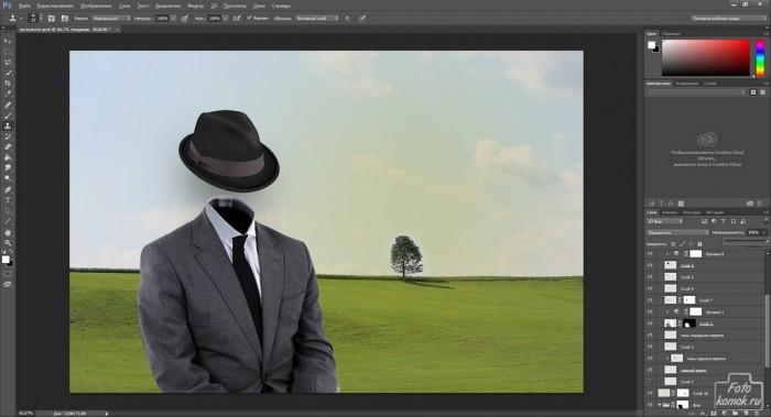 Человек-невидимка коллаж-10