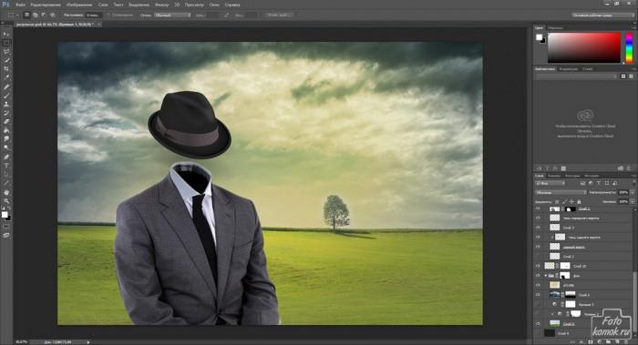 Человек-невидимка коллаж-15