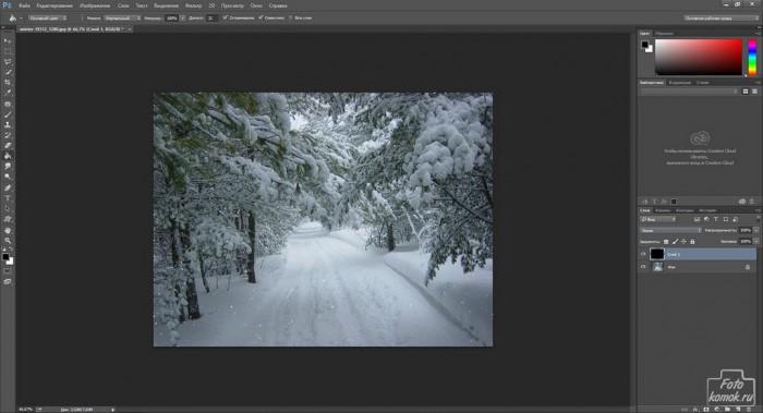 Создание реалистичного снега-05