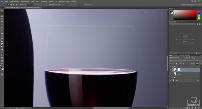 Добавляем фон стеклянному предмету-06