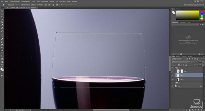 Добавляем фон стеклянному предмету-07