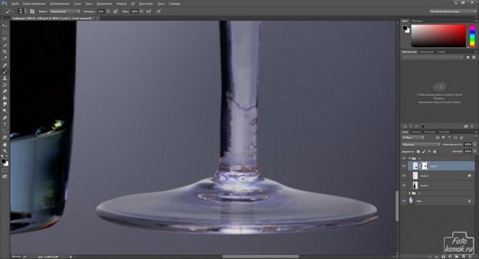 Добавляем фон стеклянному предмету-12