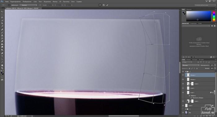 Добавляем фон стеклянному предмету-24