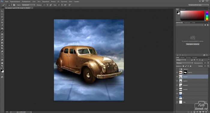 Коллаж с машиной-09