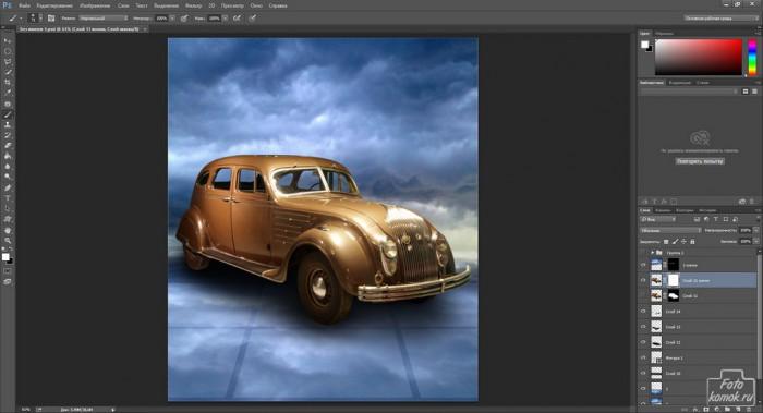 Коллаж с машиной-12