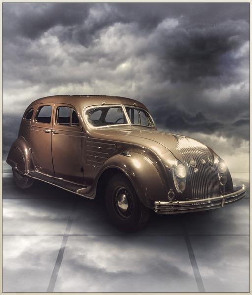 Коллаж с машиной