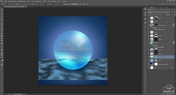 Сфера с водой внутри-20