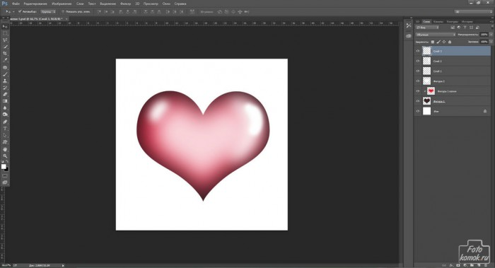 Объемные сердечки к 14 Февраля-13