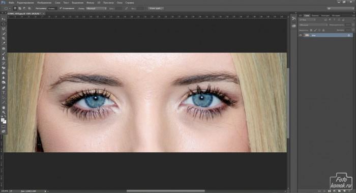 Обработка глаз в фотошоп-01