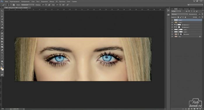 Обработка глаз в фотошоп-10