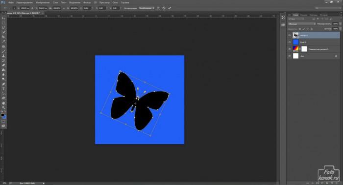 Бабочка вырезанная из фона-01