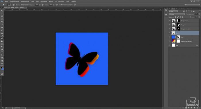 Бабочка вырезанная из фона-10