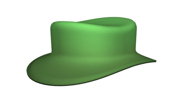 Программные объекты 3D в Фотошоп - шляпа