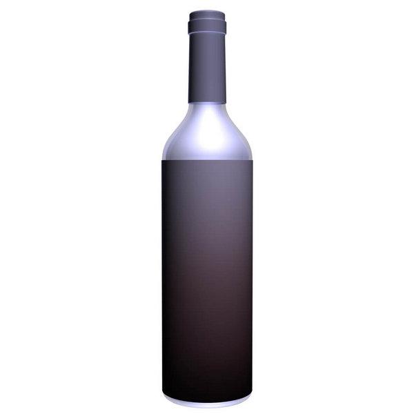 Программные объекты 3D в Фотошоп - бутылка