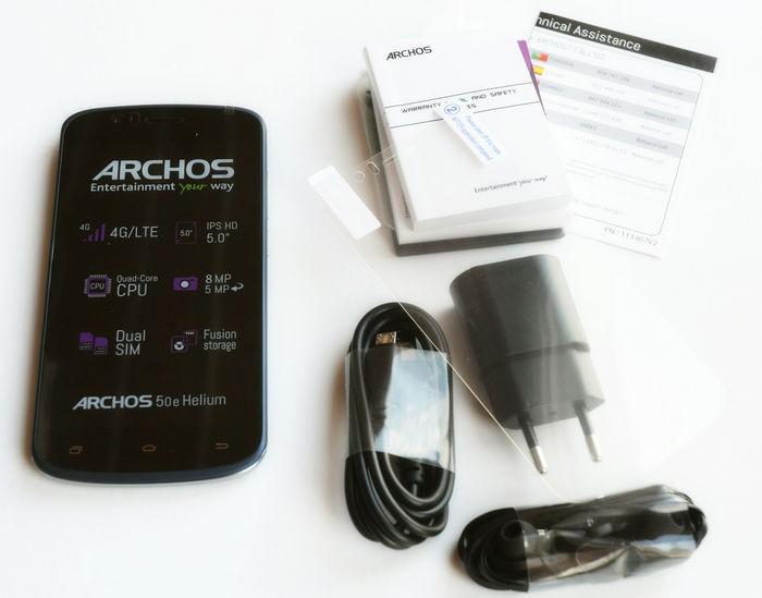 ARCHOS 50e Helium - комплект