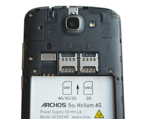 ARCHOS 50e Helium - внутри
