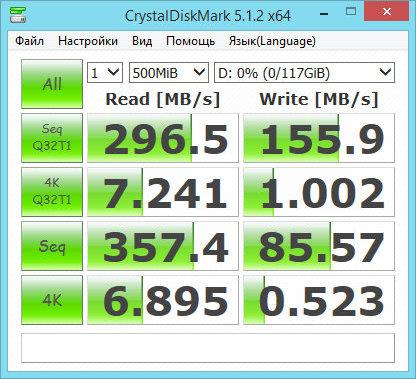 Тест USB флеш-накопителя HyperX Savage 128 Гб