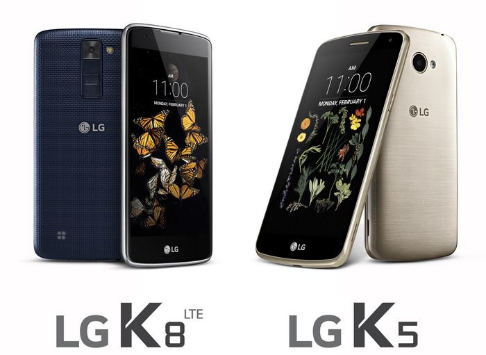 Смартфоны LG К8 LTE и LG К5
