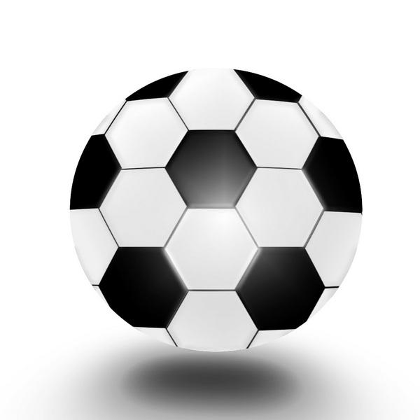 футбольный мяч в Фотошоп