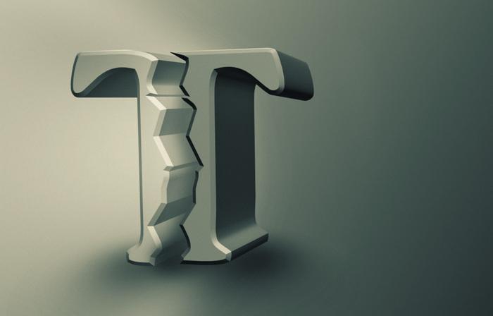 Имитация разломанной буквы-1r