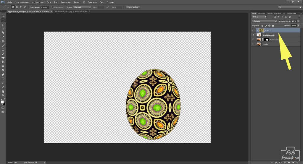 пасхальные яйца в Фотошоп-07