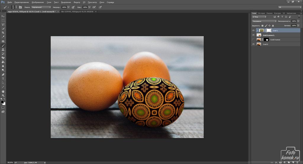 пасхальные яйца в Фотошоп-08