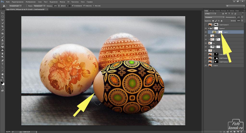 пасхальные яйца в Фотошоп-14