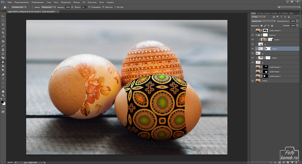 пасхальные яйца в Фотошоп-15