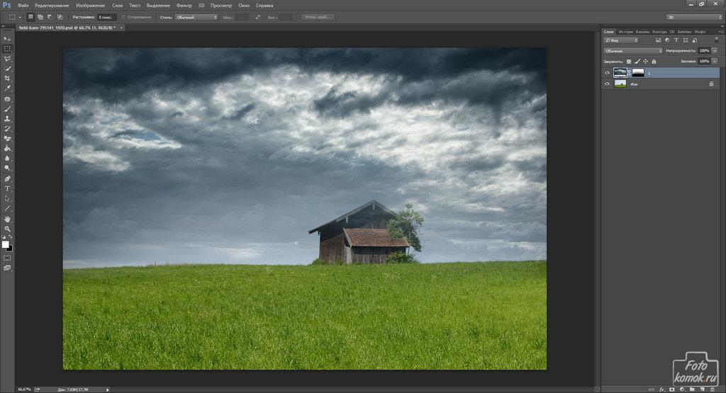 Замена неба на фотографии-02