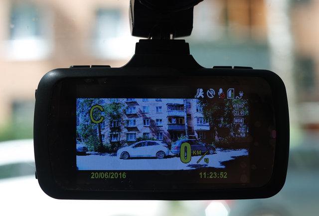 Pantera-HD Ambarella A7 GPS экран вкл.