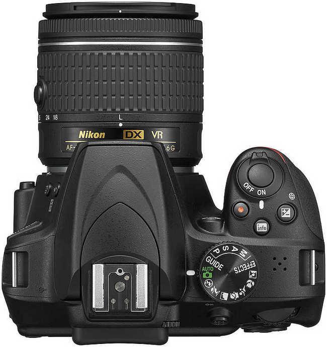 Nikon D3400 top