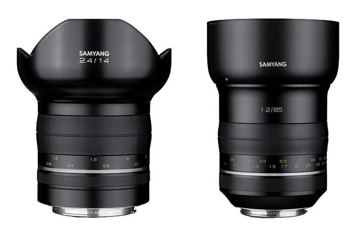 Samyang 85mm F1.2 и 14mm F2.4