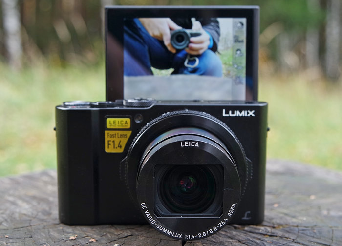 Panasonic DMC-LX15 дисплей поднят